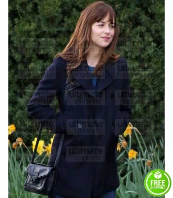 FIFTY SHADES DARKER DAKOTA JOHNSON (ANASTASIA STEELE) WOOL COAT