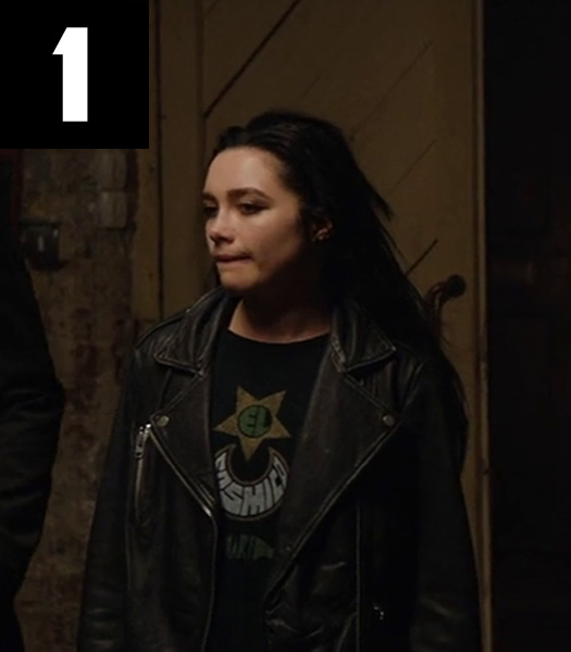 FIGHTING WITH MY FAMILY FLORENCE PUGH BLACK JACKET/VEST