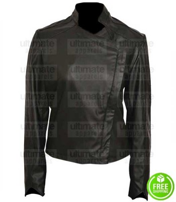 GOTHAM JESSICA LUCAS (TABITHA GALAVAN) BLACK LEATHER JACKET