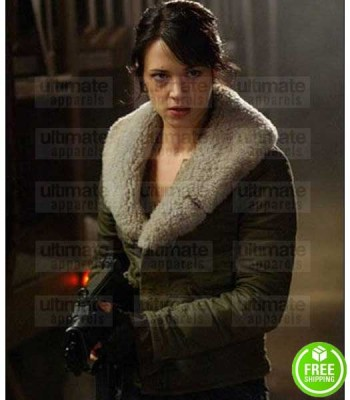 LAND OF THE DEAD ASIA ARGENTO (SLACK) COTTON FUR COLLAR JACKET