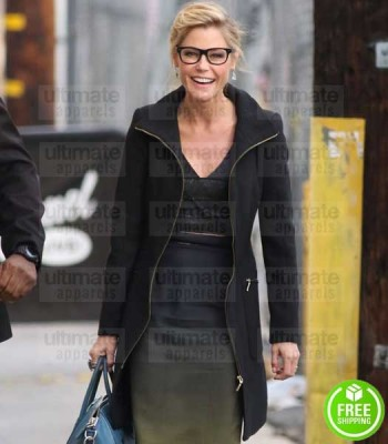 MODERN FAMILY JULIE BOWEN (CLAIRE DUNPHY) BLACK WOOL COAT