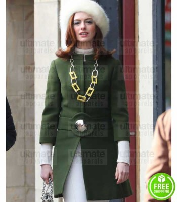 MODERN LOVE ANNE HATHAWAY (LEXI) GREEN COTTON COAT