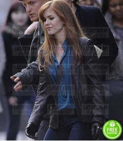 NOW YOU SEE ME ISLA FISHER (HENLEY REEVES) BLACK LEATHER JACKET