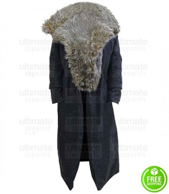 PUBLIC ENEMIES MARION COTILLARD FUR COLLAR COAT