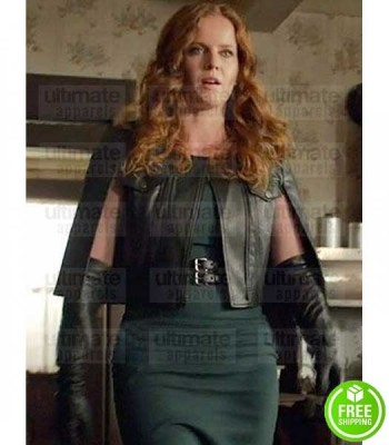 ONCE UPON A TIME REBECCA MADER BLACK LEATHER JACKET