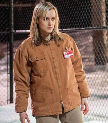 ORANGE IS THE NEW BLACK TAYLOR SCHILLING BROWN JACKET