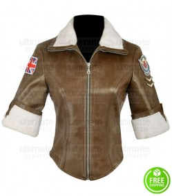 OVERWATCH TRACER BROWN LEATHER JACKET