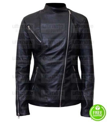 POWER LELA LOREN (ANGELA VALDES) BLACK LEATHER JACKET