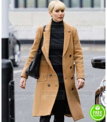 RED SPARROW JENNIFER LAWRENCE (DOMINIKA EGOROVA) BROWN COTTON COAT