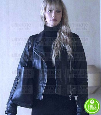 RED SPARROW JENNIFER LAWRENCE (DOMINIKA EGOROVA) BLACK LEATHER JACKET