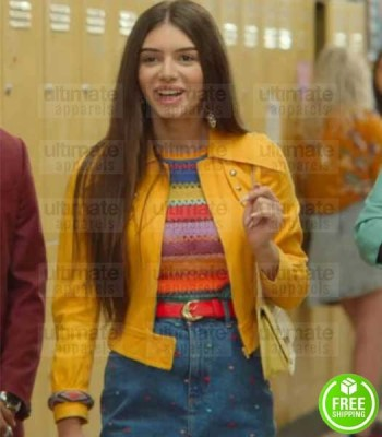SEX EDUCATION MIMI KEENE (RUBY) YELLOW LEATHER JACKET