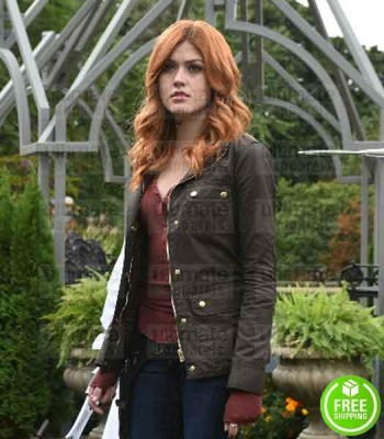 SHADOWHUNTERS KATHERINE MCNAMARA (CLARY FRAY) GREEN COTTON JACKET