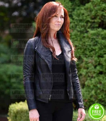 SHADOWHUNTERS MAXIM ROY (JOCELYN FRAY) BLACK LEATHER JACKET