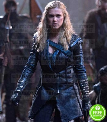 THE 100 ELIZA TAYLOR (CLARKE GRIFFIN) LEATHER COAT