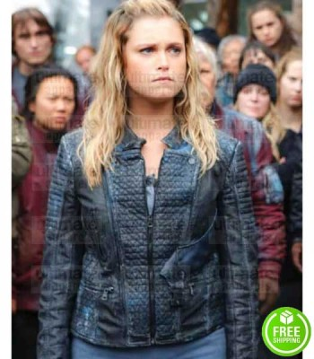 THE 100 ELIZA TAYLOR (CLARKE GRIFFIN) BLACK LEATHER JACKET