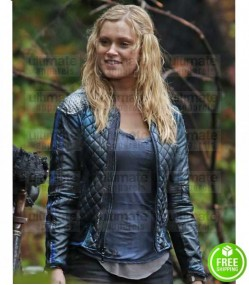 THE 100 ELIZA TAYLOR (CLARKE GRIFFIN) QUILTED LEATHER JACKET