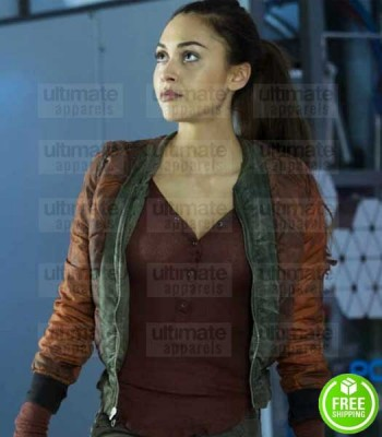 THE 100 LINDSEY MORGAN (RAVEN REYES) RED COTTON JACKET