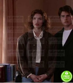 THE FIRM JEANNE TRIPPLEHORN (ABBY MCDEERE) BROWN LEATHER JACKET