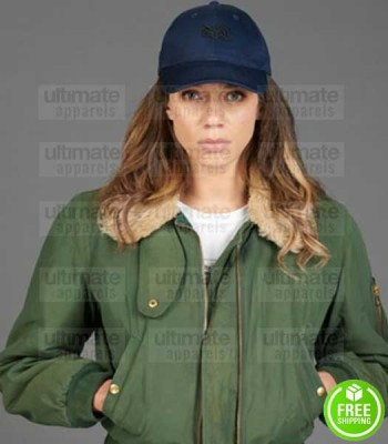 THE STRANGER HANNAH JOHN-KAMEN GREEN COTTON JACKET
