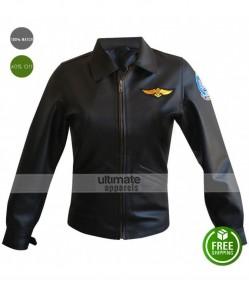 Top Gun Kelly McGillis Bomber Aviator Jacket