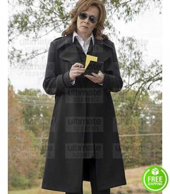 WATCHMEN JEAN SMART (LAURIE BLAKE) BLACK COTTON COAT