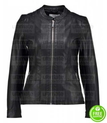 WOMEN'S BLACK LEATHER JACKET HOUSTON TX