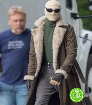 Doom Patrol Matt Bomer (Negative Man) Shearling Coat