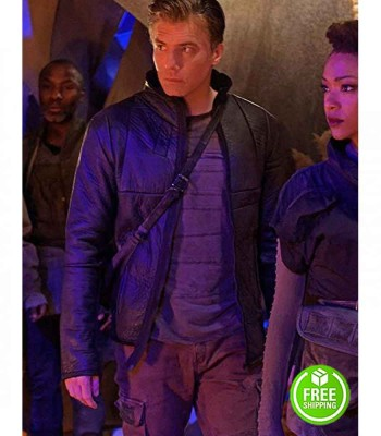 STAR TREK DISCOVERY ANSON MOUNT (CAPTAIN CHRISTOPHER PIKE) BLACK LEATHER JACKET