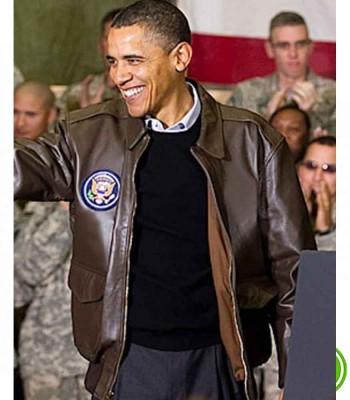 BARACK OBAMA BROWN JACKET