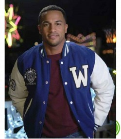 CHRISTMAS COMES TWICE MICHAEL XAVIER (GEORGE CAMPBELL)  LETTERMAN VARSITY JACKET