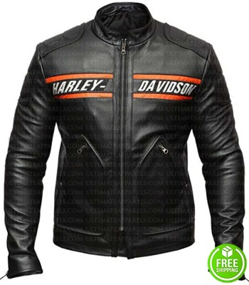 Bill Goldberg Biker Black Leather Jacket