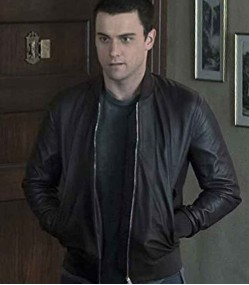 HOW TO GET AWAY WITH MURDERER JACK FALAHEE (CONNOR WALSH) BLACK LEATHER JACKET