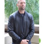 JASON STATHAM BLACK BOMBER LEATHER JACKET
