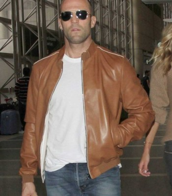 JASON STATHAM BOMBER BROWN JACKET
