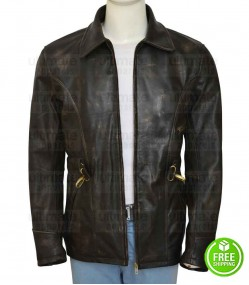 LEATHERHEADS GEORGE CLOONEY (DODGE CONNELLY) LEATHER JACKET