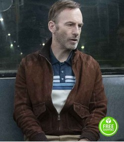 NOBODY BOB ODENKIRK (HUTCH MANSELL) BROWN SUEDE LEATHER JACKET