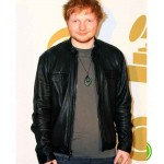 ED SHEERAN BLACK LEATHER JACKET