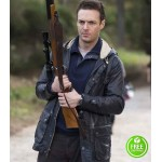 THE WALKING DEAD ROSS MARQUAND (AARON) BLACK HOODED JACKET