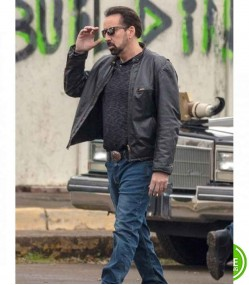 WILLY'S WONDERLAND NICOLAS CAGE (THE JANITOR) LEATHER JACKET