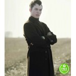 PENNYWORTH JACK BANNON (ALFRED PENNYWORTH) BLACK TRENCH COAT