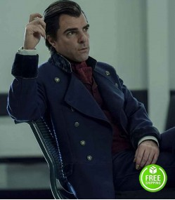 NOS4A2 ZACHARY QUINTO (CHARLIE MANX) WOOL TRENCH COAT