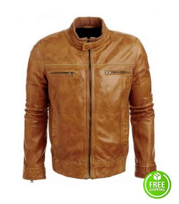 ARROW COLIN DONNELL (TOMMY MERLYN) BROWN LEATHER JACKET