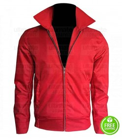 THE FURY OF LIVING JAMES DEAN (JIM STARK) RED COTTON JACKET