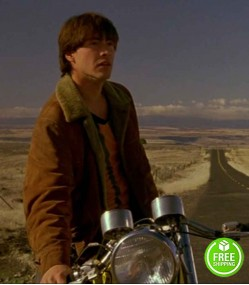 MY OWN PRIVATE IDAHO KEANU REEVES (SCOTT FAVOR) SHEARLING SUEDE LEATHER JACKET