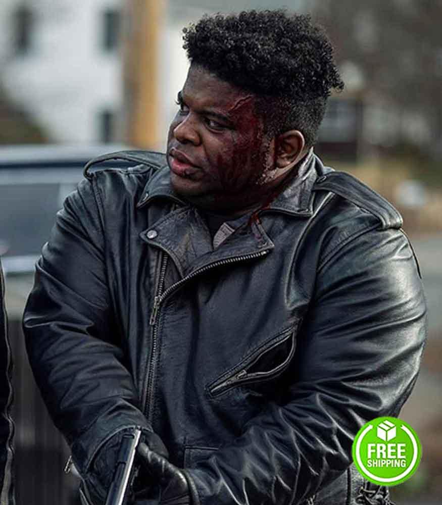 NOS4A2 JONATHAN LANGDON (LOU CARMODY) BLACK LEATHER JACKET