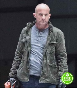 LEGENDS OF TOMORROW DOMINIC PURCELL (HEAT WAVE / MICK RORY) GREY COTTON JACKET
