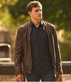 NORMAL PEOPLE PAUL MESCAL (CONNELL) BROWN LEATHER JACKET