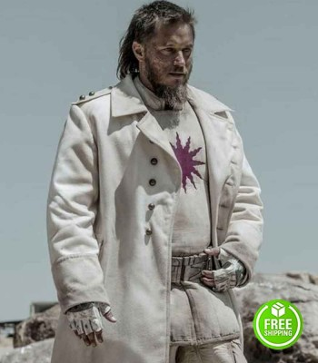 RAISED BY WOLVES TRAVIS FIMMEL (MARCUS) WHITE TRENCH COAT