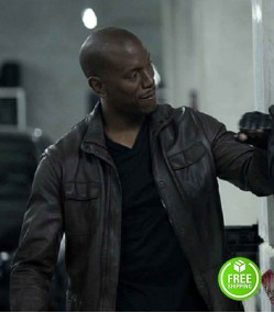 FAST AND FURIOUS 7 TYRESE GIBSON (ROMAN PEARCE) BLACK LEATHER JACKET