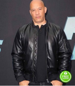 FAST AND FURIOUS 9 VIN DIESEL (DOMINIC TORETTO) BLACK BOMBER LEATHER JACKET